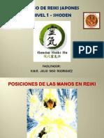 Posiciones de Las Manos en Reiki