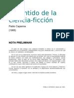 Capanna Pablo - El Sentido De La Ciencia Ficcion [doc]