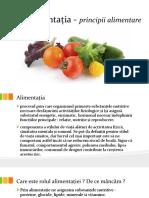 Alimentația - principii alimentare