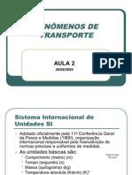 FENÔMENOS DE TRANSPORTE I Aula 2