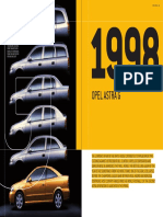 Opel Astra G 1998 Technical Data