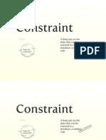 dbconstraints