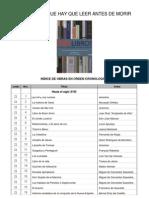 _1001 Libros que leer antes de morir