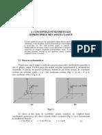 I. Conceptele fundamentale ale mecanicii