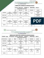 EMPLOI DE TEMPS provisoire SANTE SIN1, sin2 et Sin3 du 08 au 12 mars 2021.-1