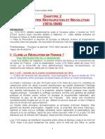 histoire première ch 2 restauration -révolutions