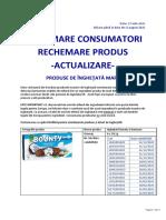 Informare Actualizata Consumator Rechemare Produs