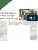 I Comitati hanno consegnato le lettere a Palazzo Marino. Trecento in corteo per dire stop alle ruspe. Repubblica 27 marzo 2011