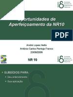 NR 10 - Oportunidades de aperfeiçoamento da NR10