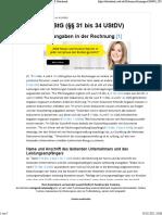 UStR 185. - Pflichtangaben in Der Rechnung - NWB Datenbank