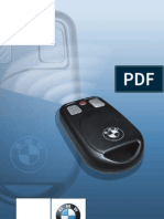 BMW DWA 6 Alarm System Riders Manual (2006)