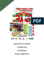 2011 Itxartu Inscripciones Premios, Normas y to