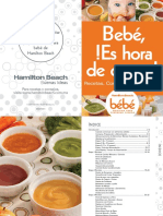Recetario Procesador de Alimentos Para Bebé