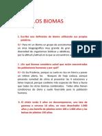 LOS BIOMAS TALLER 3