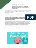 DÍA DEL PSICÓLOGO 30 DE ABRIL
