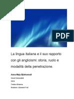 La lingua italiana e il suo rapporto