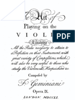 Geminiani - The Art of Playing Violin