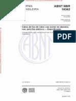 NBR 16362 de 042015 - Cabos de Fios de Cobre Com Núcleo de Alumínio, Nus, Para Fins Elétricos — Especificação