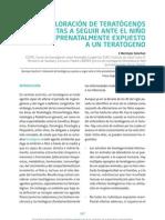 Valoración de teratógenos y pautas a seguir ante el niño prenatalmente expuesto a un teratógeno
