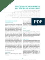 Protocolo de seguimiento en el síndrome de Williams