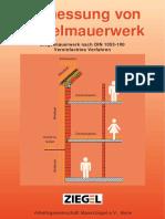 Verifica di pannelli e strutture murarie in tedesco