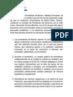 Comunicado de la Asociación de Periodistas de Bolívar