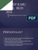 SOSIAL  BUDAYA 1