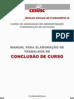 Manual para elaboração trabalhos de conclusão de curso