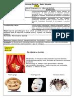 PLANOS DE AULAS 4° A _B 2021 As máscaras teatrais