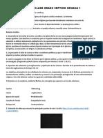 PAN DE CLASE  SEMANA 1