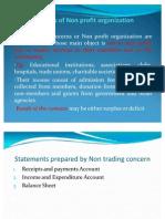 Accounts of Non Profit Organisation