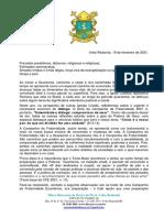 ORIENTAÇÃO PASTORAL  BISPO DIOCESANO SOBRE CAMPANHA DA FRATERNIDADE ECUMENICA 2021