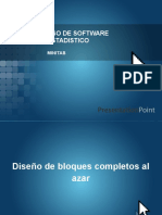 uso de software Diseños Estadistica