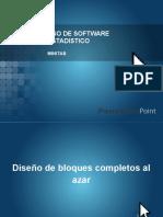 uso de software Diseños Estadistica