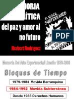 HERBERT RODRIGUEZ MOVIDA SUBTERRÁNEA 1984-1992