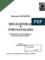 Dacquino, Giacomo. Religiosidad y Psicoanálisis (Primera Parte, caps. 1, 2 y 3)