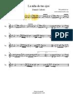 La-niña-de-tus-ojos-Daniel-Calveti-Violin-Partitura
