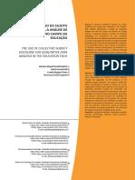 Uso do discurso do sujeito coletivo para a analise da dados qualitativos na educacao
