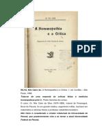 HOMEOPATIA DR NILO CAIRO