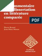 Pierre Brunel -Le commentaire et la dissertation en littérature comparée - Jericho
