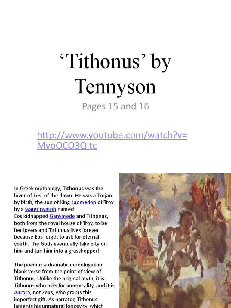 tithonus tennyson analysis