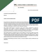 CARTA DE PRESENTACION A LOS GOBIERNOS LOCALES