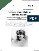 A-Rivista Anarchica - Dossier Emma Goldman. Sesso, Anarchia e Rivoluzione
