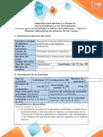Guía de Actividades y Rubrica de Evaluación - Tarea 4 - Plantear alternativas de solución de las Tareas (2)