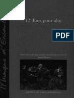partitures per a viola mozart leopold 12 duos pour alto