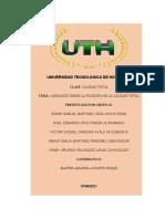 tarea LIDERAZGO DESDE LA FILOSOFIA grupo #1 calidad total