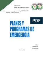 4. Cuestionario de Planes y programas de emergencia