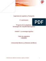 242844274 Unidad 1 La Estrategia Logistica PDF