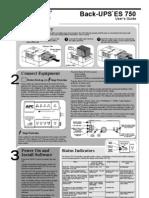 APC ES 750 manual