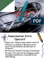 Perawatan Intra Operatif